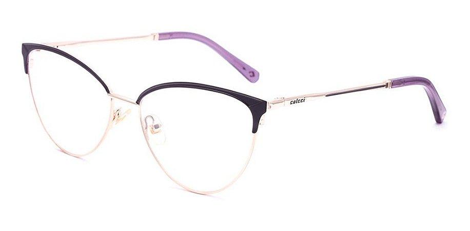 Óculos De Grau Colcci C6134 C69 54 Roxo Dourado
