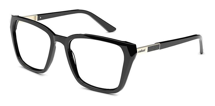 Óculos De Gra Colcci C6132 A34 55 Preto Dourado