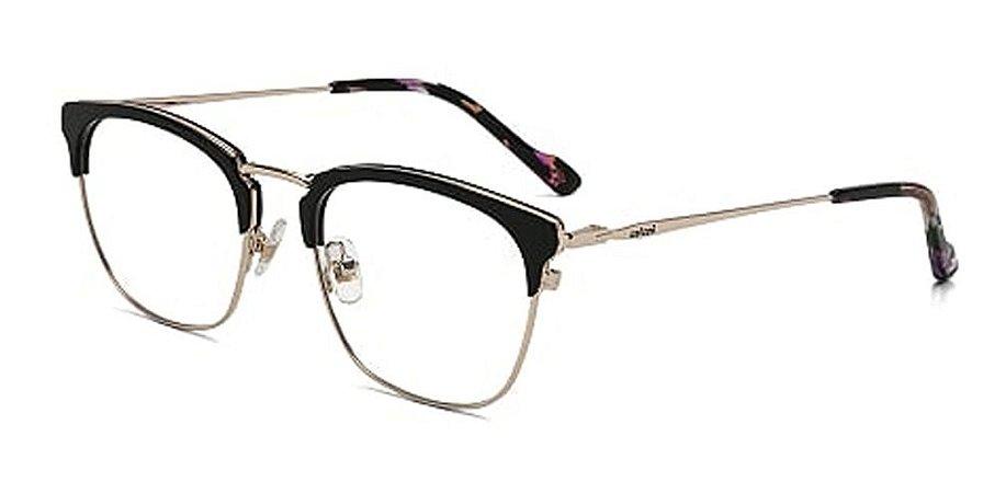 Óculos Armação Colcci C6104 A3451  Feminino Metal Preto