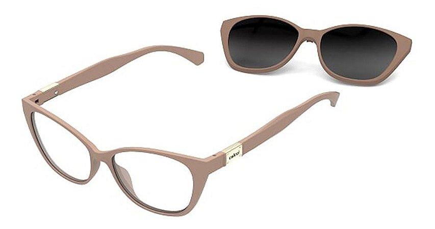 Óculos Armação 2 Em 1 Colcci Bandy 1 Feminino Nude  Clip-on