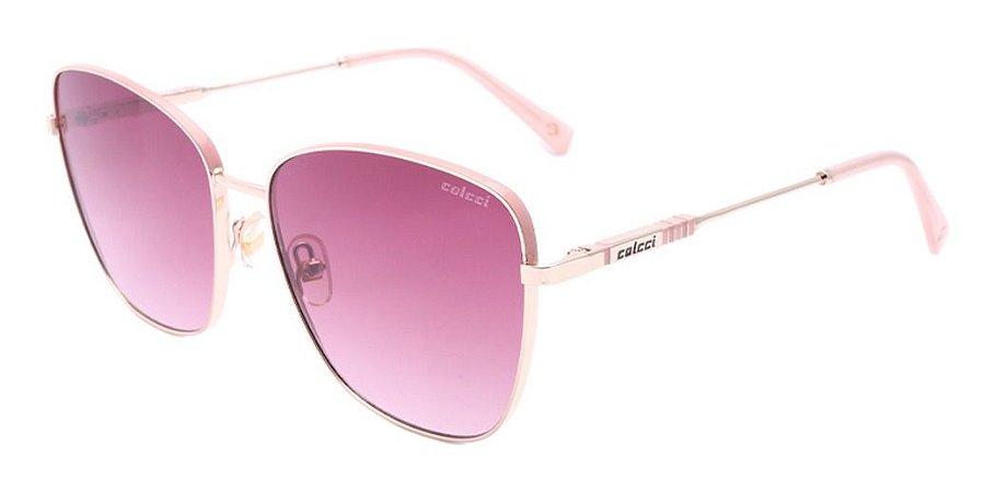 Óculos De Sol Colcci C0161 E36 37 Rosa / Vinho Degradê