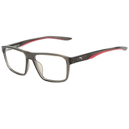 Óculos Armação Puma PU02090 003 Cinza Translucido Masculino