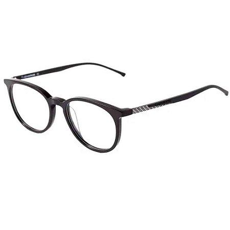 Óculos Armação T-Charge T6055 A01 Preto Acetato Masculino