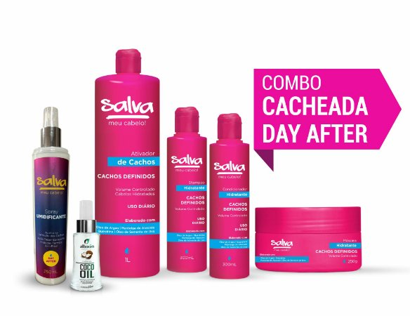 COMBO CACHEADA DAY AFTER (GANHE 01 Shampoo Argan & Macadâmia 300ml)