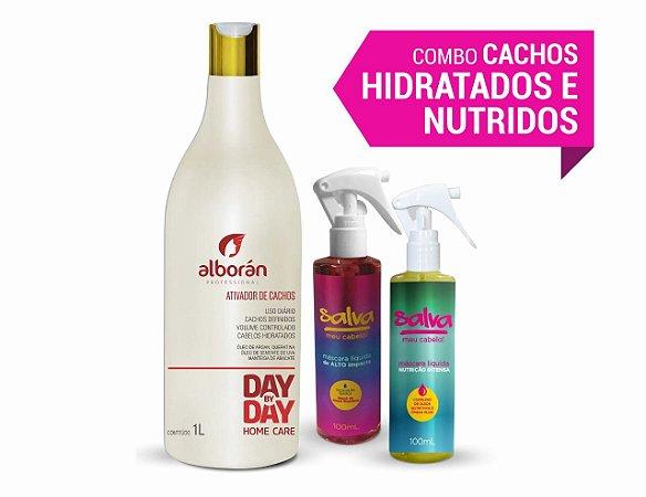 COMBO CACHOS HIDRATADOS E NUTRIDOS  (GANHE 01 Shampoo Solar Therapy 300ml)