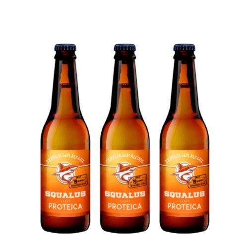 Lançamento - Cerveja Squalus Sem Álcool Proteica - 3 Un.