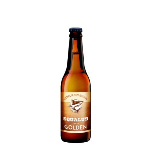 Cerveja Squalus Sem Álcool Golden - Long Neck 355ml - Argentina