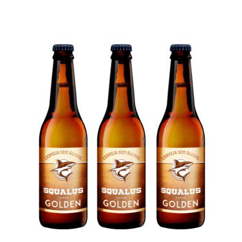 Lançamento - Cerveja Squalus Sem Álcool Golden - 3 Un.