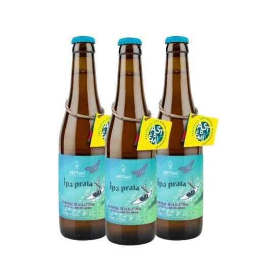 Cerveja Abstêmio% Sem Álcool Ipa Praia - 3 Un. Long Neck 355ml - Brasil