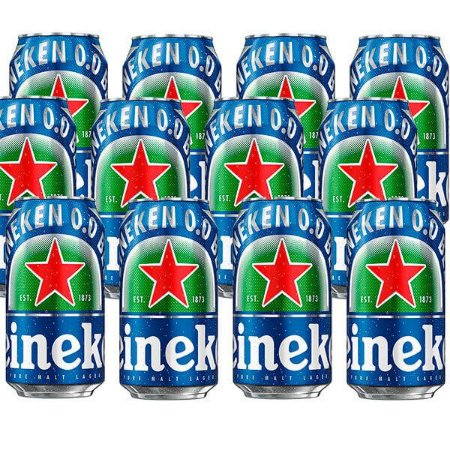 Combo de Cervejas Heineken 0.0 Puro Malte Sem Álcool - Lata 350 ml - Brasil (Holanda) - 12 unidades