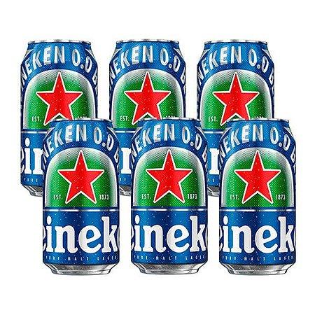 Combo de Cerveja Heineken 0.0 Puro Malte Sem Álcool - 6 UN Lata 350 ml - Brasil (Holanda)