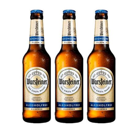 Combo de Cerveja Sem Álcool Warsteiner Fresh - 3 UN Garrafa 330 ml - Alemanha