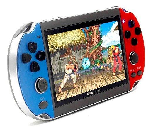 Vídeo Game Portátil e MP5 multimídia com 500 Jogos Retro
