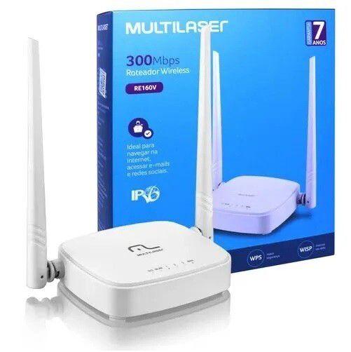 Roteador 300mbps Ipv6 2.4ghz 2 Antenas - Branco Multilaser