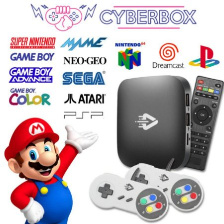 Cyber Box Video Game Retro Multijogos 32GB 2 Controles C/ Fio SNES