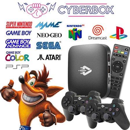 Cyber Box Video Game Retro Multijogos 32GB 2 Controles S/ Fio