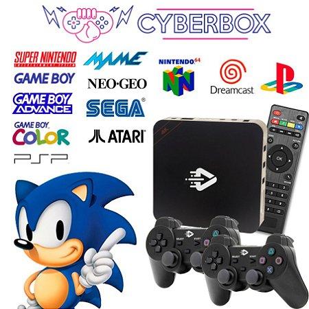 CYBER BOX VIDEO GAME RETRO MULTIJOGOS 16GB 2 CONTROLES C/ FIO