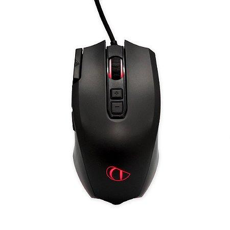 Mouse Gamer Para Jogo 3200 Dpi Macro Programável 8 Botões