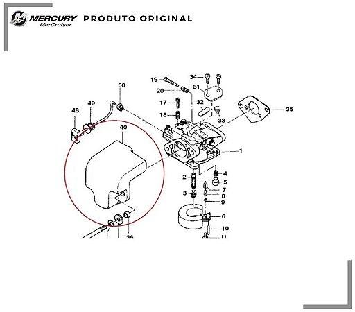 SILENCIADOR DO CARBURADOR MERCURY 8HP