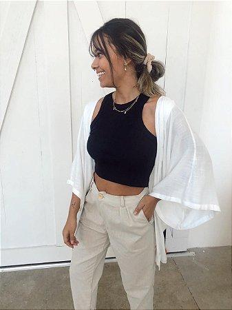 Kimono Viscolinho Off White