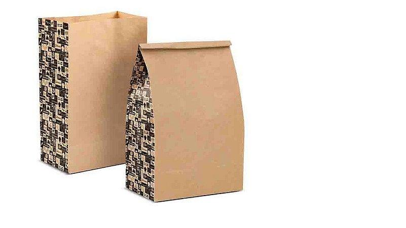 SC02  - 50 unid - Saco Kraft para Delivery Pequeno
