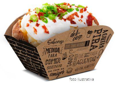 F5K - 100 unid -  Embalagem para batata frita, assada e porções