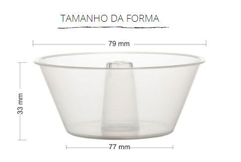 PW61/TWH -120 unid -  Pudim 90 ml forneavel  com tampa Pet
