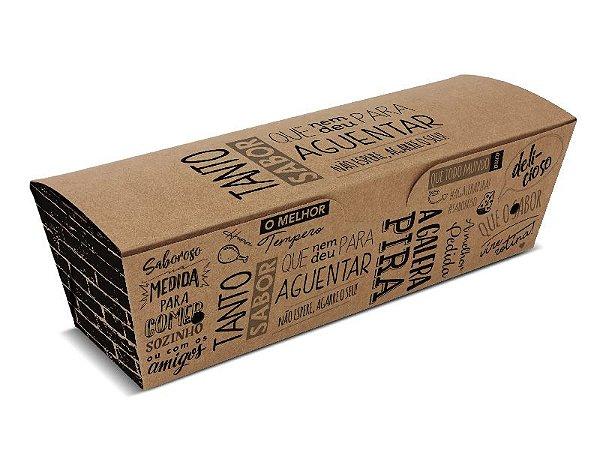 D9K - 100 unid - Embalagem para hot dog e baguetes para viagem