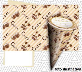 Cone tufado sabor coco- Pct 50 unidades