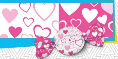 Trufa coração rosa 15 x 16 cm - Pct 100 unidades