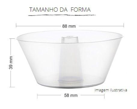 PW33/THW - 360 unid - Forma Forneável Pudim 150 ml com tampa pet
