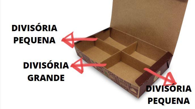 DPBA4- 100 unid - Divisória pequena para a caixa box BA4
