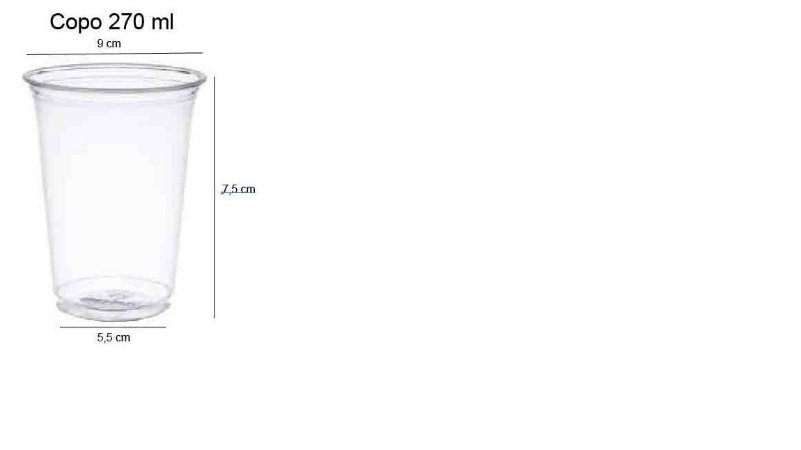 50 unid - Copo pet 270 ml