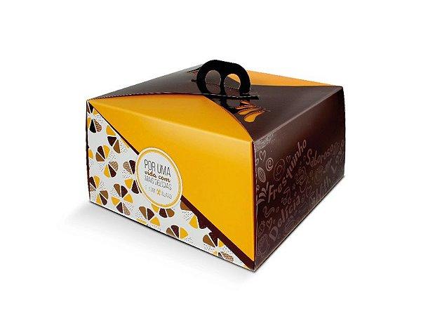 PD23A  - 50 unid - Embalagem para bolos em papel kraft de até 1,5 kg