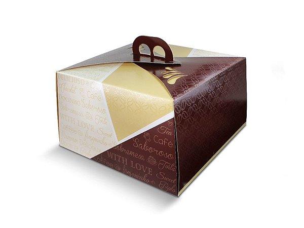PD23B  - 50 unid - Embalagem para bolos em papel kraft de até 1,5 kg