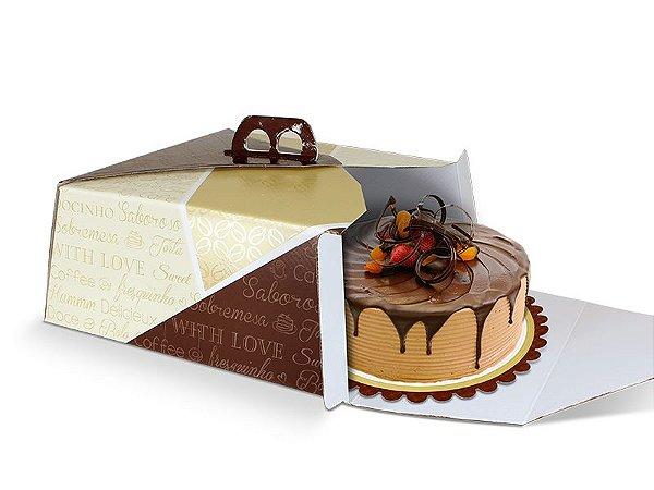 PD22 - 25 unid -  Caixa para bolos em de até 3,0 kg