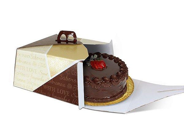 PD25 - 25 unid - Embalagem para bolos em papel de até 2,5 kg