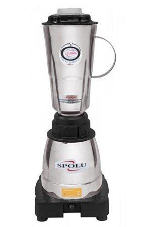 Liquidificador Spolu Luxo 1,5 L 127V Alta Rotação Copo Inox SPL-061