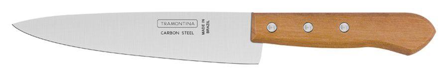"""Faca para Cozinha/ Peixeira Tramontina Carbono 7"""" 22950/007"""