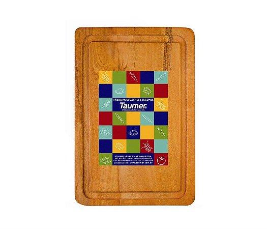 Tábua de Madeira para Carnes e Legumes 310x210x18mm Taumer Wood