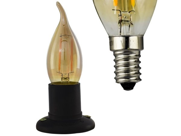 Lampada Retro decorativa Led Chama Soquete E14