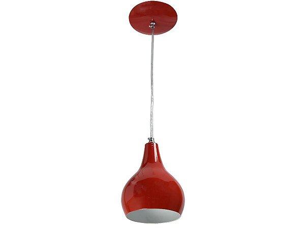 Pendente 40W - E27 BI-Volt MorInga alumínio Vermelho Euro