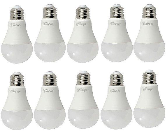 Kit 10 Lampadas LED Bulbo A60 E27 9W 6500K Bivolt Galaxy