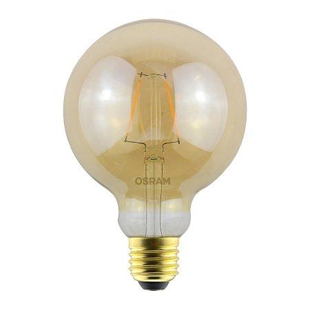 Lâmpada LED Vintage Globe OSRAM 2.5W 220 lúmens (substitui 22W) - Luz amarela 2500K - Bivolt - Base E27 - 7014555