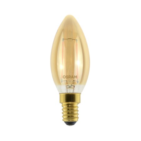 Lâmpada LED Vintage Vela OSRAM 2W 210 lúmens (substitui 21W) - Luz amarela 2500K - 220V - Base E14 - 7014551