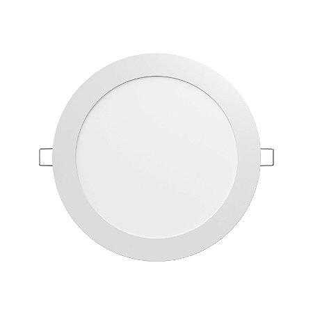 Luminária LED painel de embutir LEDVANCE 18W 1500 lúmens luz branca 6500K bivolt ultra fina com driver externo redonda - 7014195