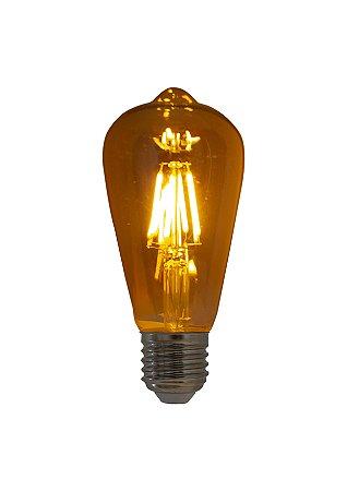 Lampada de Filamento LED ST64 Squirrel Cage 4W Bivolt LT30*185-L-2,5W