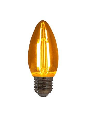 Lâmpada de Filamento LED Vela 2W Bivolt base E27