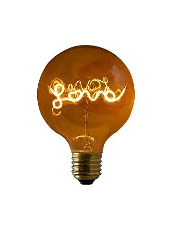 Lampada de Filamento LED G125 4W - Love LG200-S-4W