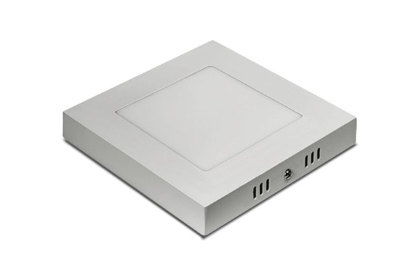 LUMINARIA PLAFON LED 6W 3000K SOBREPORBRANCA QUAD 120X120MM BIVOLT CONCEPT BLISTER 2860
